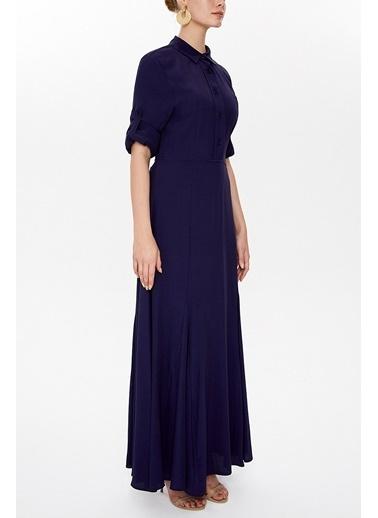 Societa Lastikli Uzun Elbise 92975 Renkli
